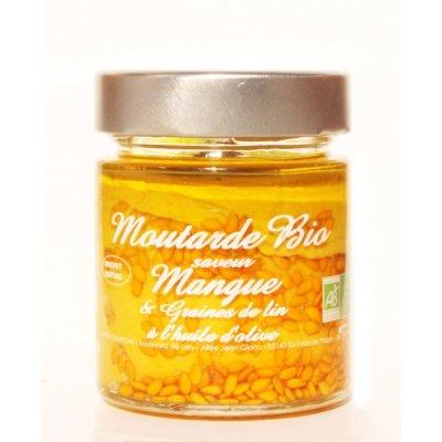 Moutarde Mangue Graines de Lin Bio 130g - Savor et Sens -