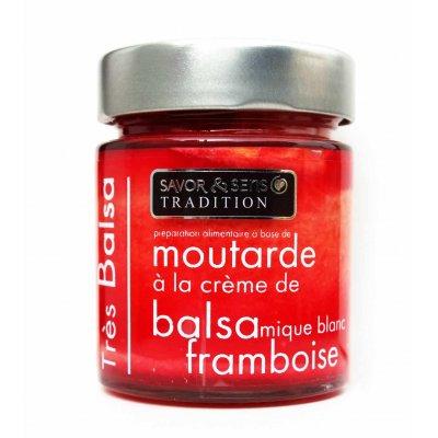 Moutarde Très Balsamique Framboise 130g - Savor et Sens -