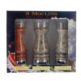 Coffret Cadeau 3 Moulin de Sel  Savor et Sens Tradition