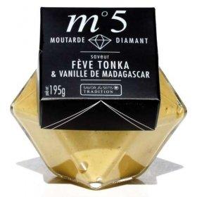 Moutarde Diamant Fève Tonka et Vanille de Madagascar - Savor et Sens Tradition-