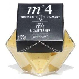 Moutarde Diamant Saveur Cèpe et Sauternes - Savor et Sens Tradition-