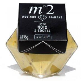 Moutarde Diamant Noix et Cognac - Savor et Sens Tradition-
