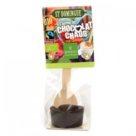 J'aime le chocolat chaud Noir BIO Bovetti Origine Saint Domingue Fairtrade