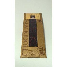 Mini Tablette Chocolat Noir Framboise 73% cacao