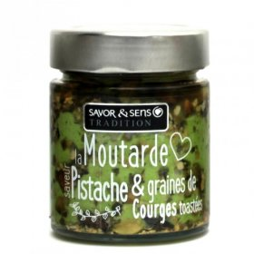 Moutarde saveur pistache et graines de courges toastées - Savor et Sens -