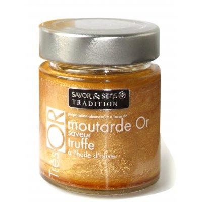 Moutarde Très Or saveur Truffe Blanche - Savor et Sens -