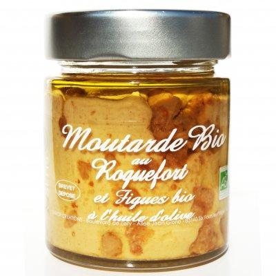 Moutarde Roquefort et Amandes torréfiées BIO 130g - Savor et Sens -