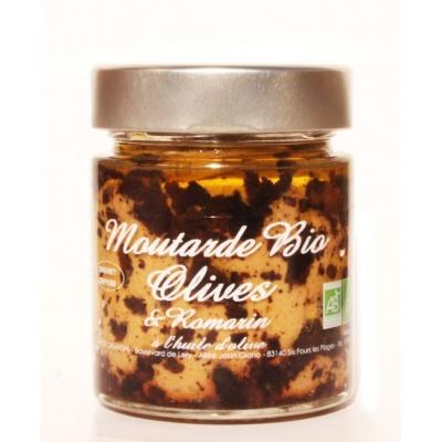 Moutarde Olives et Romarin Bio 130g - Savor et Sens -