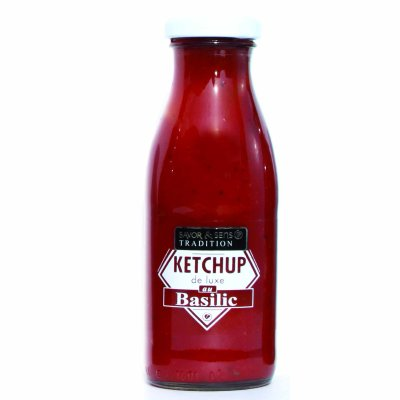 Ketchup de Luxe au Basilic Savor et Sens Tradition
