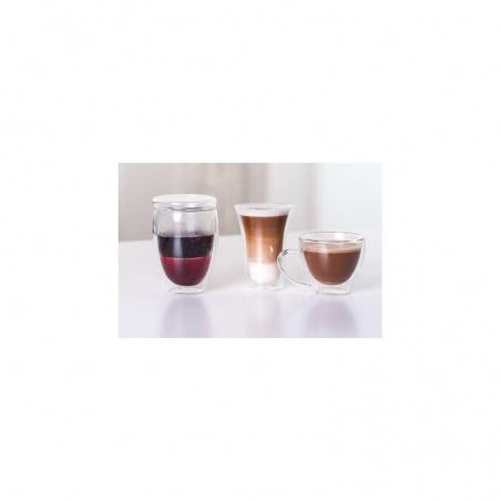2 tasses à Café Latté  Capuccino en verre Double Paroi