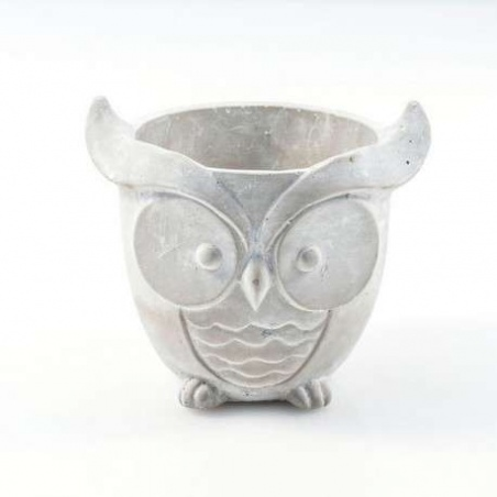 Cache Pot Rond Ciment Hibou...