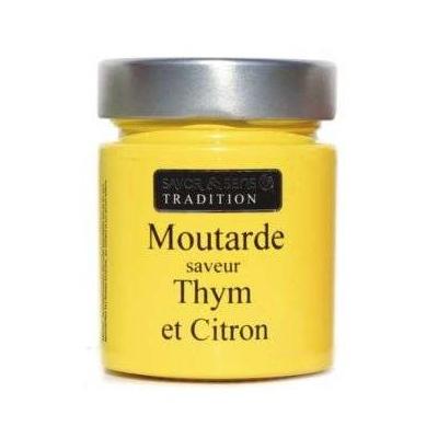 Moutarde Saveur Thym et Citron - Savor et Sens Tradition-