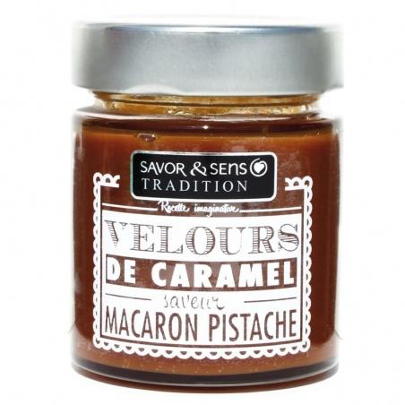 Velours de caramel Macaron Pistache Savor et Sens Tradition