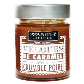 Velours de caramel Crumble Poire Savor et Sens Tradition