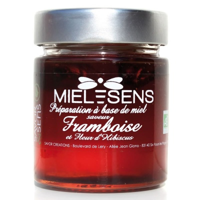 Miel Framboise Hibiscus Bio Savor et Sens