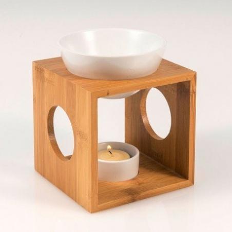Brûle-Parfum Bambou Céramique Rond