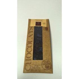 Mini Tablette Chocolat Noir Violettes Cristallisées 73% cacao
