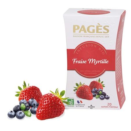 Infusion Fraise Myrtille BIO Pagès