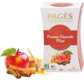 Infusion Pomme Cannelle Miel BIO Pagès