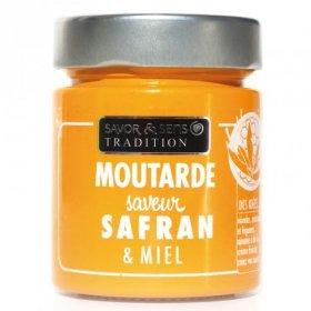 Moutarde Saveur Safran et Miel - Savor et Sens -