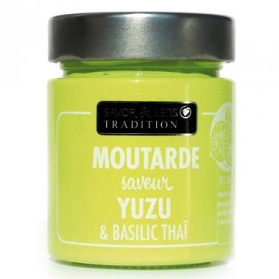 Moutarde Yuzu et Basilic Taï - Savor et Sens -