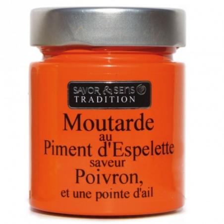 Moutarde Piment Espelette Poivron Pointe Ail - Savor et Sens -