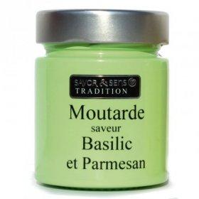 Moutarde Basilic et Parmesan - Savor et Sens -