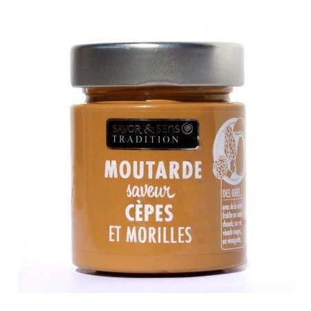 Moutarde Cèpes et Morilles 130g - Savor et Sens -