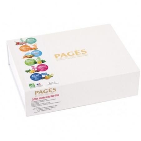 Coffret Cadeau Carton Infusions Bien-être BIO Pagès