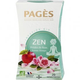 Infusion ZEN  Pétales de Rose, Pomme, Oranger BIO Pagès