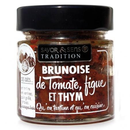 Brunoise de Tomate, figue et thym Savor et Sens Tradition
