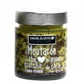 Moutarde au thé matcha citronné et graines de chia - Savor et Sens -