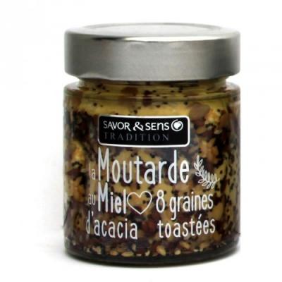 Moutarde au miel et 8 graines toastée - Savor et Sens -