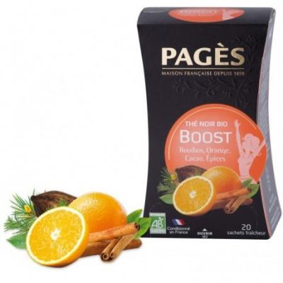 Thé Noir Boost Rooibos Orange Cacao épices BIO