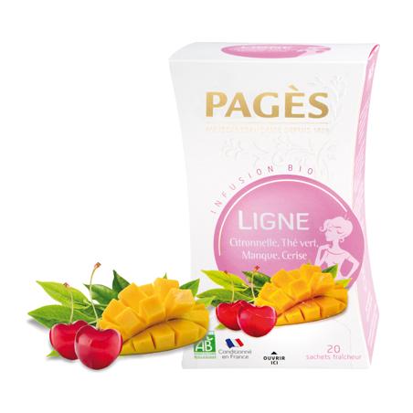 Infusion LIGNE 2 Citronnelle, Mangue, Cerise, thé vert BIO Pagès