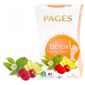 Infusion DETOX Framboise, Citron vert BIO Pagès