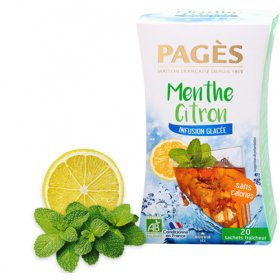 Infusion Glacée Menthe Citron BIO Pagès