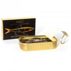 Sardine à l'huile d'olive saveur Truffe Noire - Savor et Sens - tartinade tapas épicées