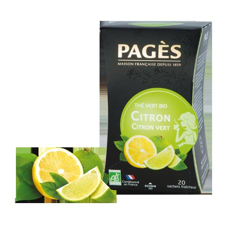 Thé Vert Citron BIO Pagès
