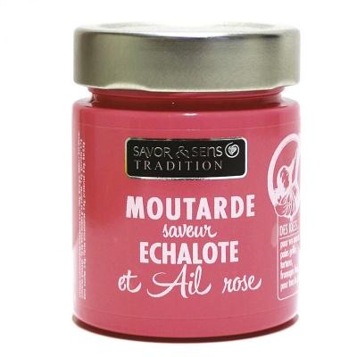 Moutarde Ail Rose et échalote - Savor et Sens -