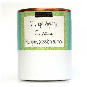 Confiture Voyage Voyage Mangue, Passion et Coco Savor et Sens Tradition