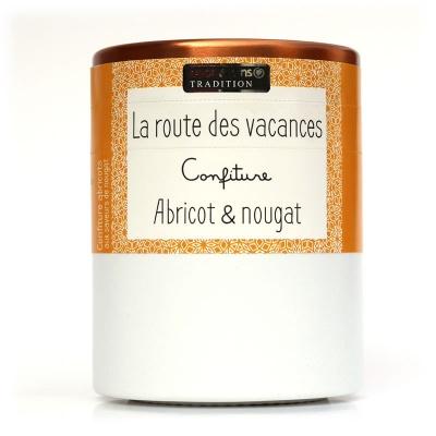 Confiture LA ROUTE DES VACANCES : Abricot et Nougat Savor et Sens Tradition