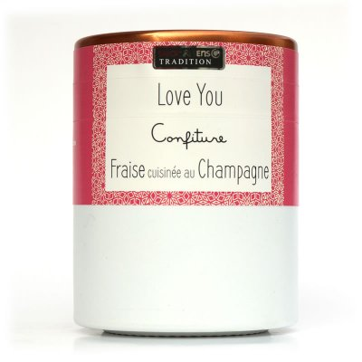 Confiture LOVE YOU : Fraise cuisinée au Champagne Savor et Sens Tradition