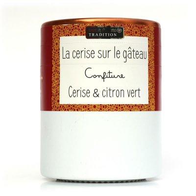 Confiture CERISE SUR GATEAU : Cerise et Citron Vert Savor et Sens Tradition
