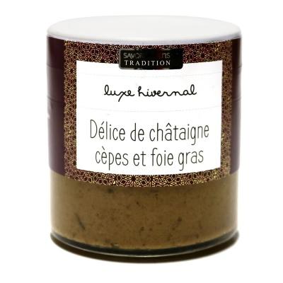Délice de Châtaigne, Foie gras et Cèpes - Savor et Sens -