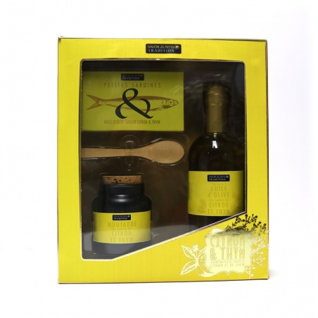 Coffret Cadeau Tout Jaune autour du citron et Thym Savor et Sens Tradition