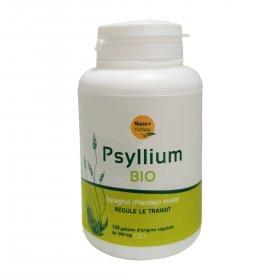 Psyllium BIO 120 géllules ECOCERT AB - sans gluten - Nature et Partage