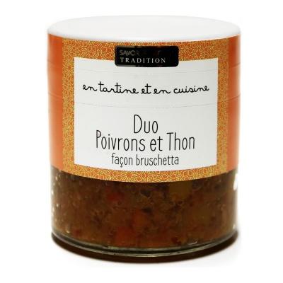 Duo de Poivron, thon facon Bruschetta Savor et Sens Tradition