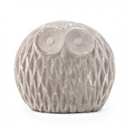 Chouette Décorative en Ciment Athene h 12 cm