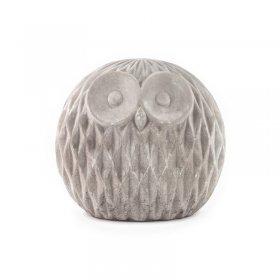 Chouette Décorative en Ciment Athene h 15,9 cm